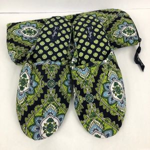 Vera Bradley Slippers and Storage Bag